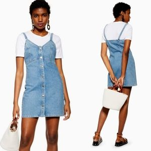 Topshop Denim Button Down Bodycon Dress